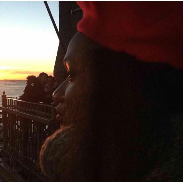 Last shot of the day on The Brooklyn Bridge by Key Ehrlich.
